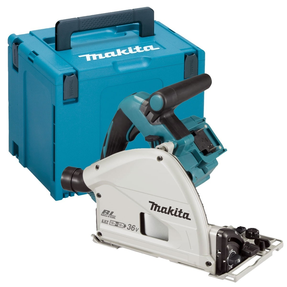 Makita DSP600ZJ Twin 18V Brushless Plunge Saw LXT