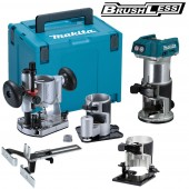 Makita DRT50ZJX3 18v LXT Li-ion Brushless Router/Trimmer with Extra Bases