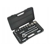 Siegen S0913 Socket Set 22pc 1/2inSq Drive 6pt WallDrive® Metric