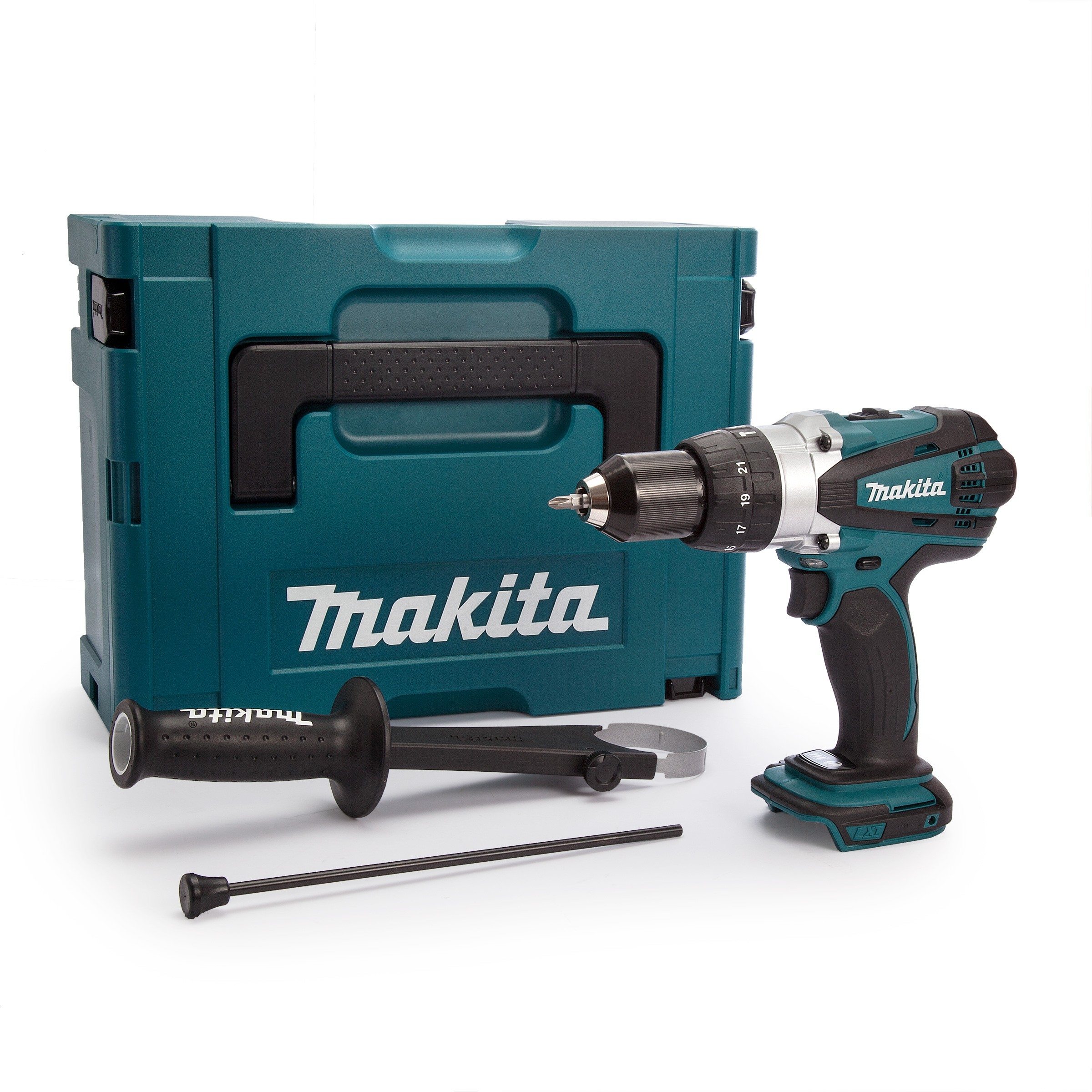 Makita DHP458ZJ 18v LXT Combi Drill Body Only in Type 2 Makpac Case
