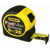 Stanley 0-33-726 Tape Measure FatMax Blade Armor 8m / 26ft Metric / Imperial with 32mm blade