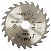 Trend CSB/16024 Craft saw blade 160mm x 24 teeth x 20mm