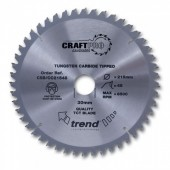 Trend CSB/CC21524 Craft Saw Blade Crosscut 215mm x 24 Teeth x 30mm