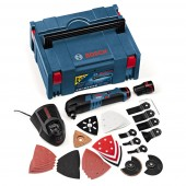 Bosch GOP10.8V-LI 10.8V Li-ion Multicutter in L-Boxx with 36 Accessories (2 x 2.5Ah Batteries)